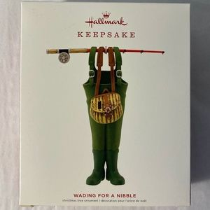 Hallmark Wading For A Nibble Ornament Fishing